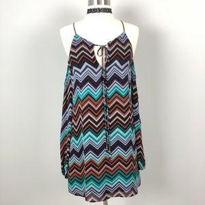 Parker | Cold Shoulder Dress Tunic Chevron